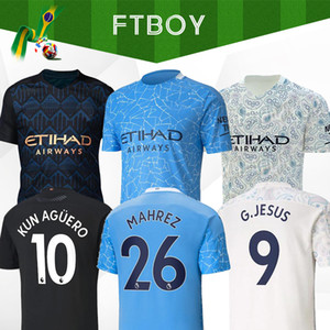 2020 Fußball-Trikot Stadt 20 21 Mahrez G. JESUS DE BRUYNE Kun Agüero Fußballhemd MENDY MAN Uniformen manchester maillot Männer Kinder-Kit