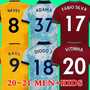 20 21 wolves Maglia da calcio 2020 2021 Maglia da calcio Wolverhampton Wanderers RAÚL NEVES DIOGO ADAMA COADY MOUTINHO BENNETT FÁBIO SILVA VITINHA soccer jersey