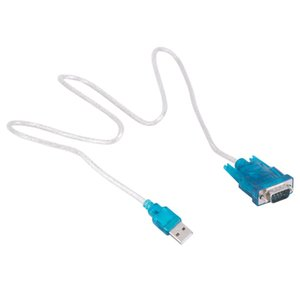 100set lot CH340 USB to RS232 COM Port Serial PDA 9 pin DB9 Cable Adapter Male M M For PC GPS Support Windows7 8