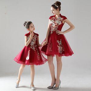 Mother Daughter Wedding Dresses Big Girls Ball Gown Elegant Wedding Bride Mom Mum Mother and Daughter Clothes Princess Dress
