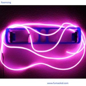 Life Time is More Than 8000 HoursPink Color 5M Length Diameter 5MM El Neon Wire EL Neon String in Free Shipping(No Inverter)