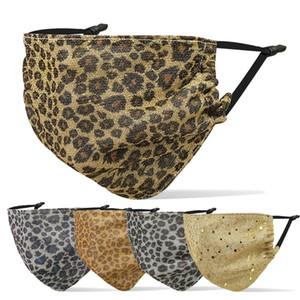 2020 moda maschere print designer maschera viso Leopard uomini donne tipo d'attaccatura dell'orecchio traspirante resistente alla polvere foschia maschera adulti