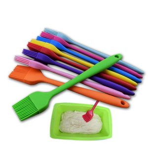 Silicone Oil Brushes For Cake Bread Butter Multicolor Basting Pastry Brush Baking Tools Kitchen Safety BBQ Brush 21x3cm