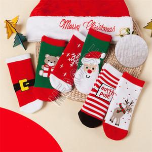 Neonate calzini di Natale Babbo Natale Orso del fiocco di neve Elk ispessimento modello di Natale calzini dei bambini dei ragazzi dei capretti Terry Sock Calze D9808