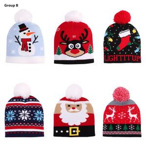 크리스마스 모자 겨울 니트 따뜻한 아기 어린이 비니 크리스마스 사슴 눈사람 곰 산타 클로스 소년 소녀 모자는 DHL 캡 모자