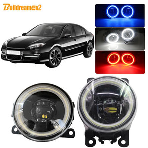 Buildreamen2 Для Laguna 3 / III Grandtour 2007-2012 автомобилей H11 LED Fog Light Ассамблея Angel Eye DRL дневного света 12V
