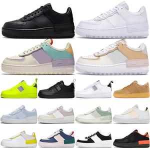 Nike Air Force 1 AF1 الرجال النساء أحذية عارضة الملك دفع عصر حزمة عاكس كره الأسود مشرق سماوي بوشا ت رجل مدرب الرياضة حذاء 36-45