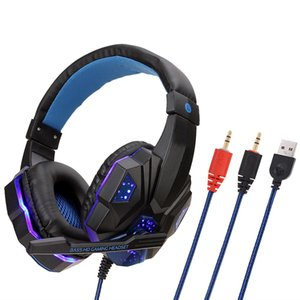 DHL SY830 Wired Headphones with HD MIC Classic Fashion designed Game Headset Earphone with Cool LED light retail box For PUBG
