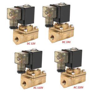 12V / 24V / 110V / 220V PU220-02 / 4 2 بطريقة مباشرة المفعول صمام الملف اللولبي الكهربائية 1MPA