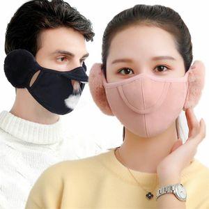Máscara de montar las orejeras del invierno Polvo de algodón unisex de la orejera de la Máscara del oído de las mujeres de los hombres de invierno Muff venda del abrigo del calentador del oído earlap protectora DWB1937