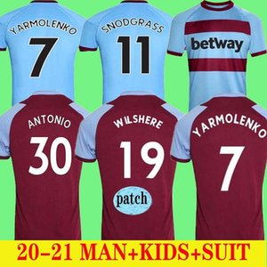 20 21 West Home soccer jerseys 2020 2021 United CHICHARITO HAM LANZINI ANTONIO F.ANDERSON football shirts AWAY