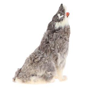 Реалистичные Ревущие Wolf Статуя, Моделирование животные модель игрушка для детей, Обучающие игрушки, подарок на день рождения