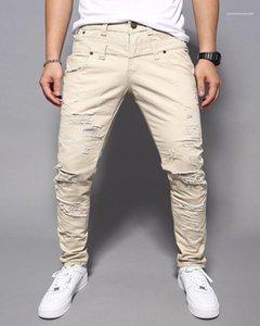 multi colore strappato Uomo Abbigliamento Uomo Designer Skinny lunghi Corgo Jeans Pantaloni Casual Street Style Moda Uomo