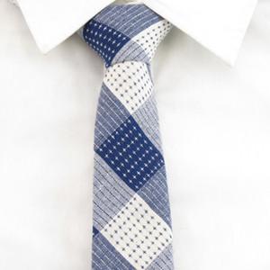 Erkekler lacivert beyaz ekose Ties s Papyon% 100 pamuk Tie yıldızı poin Mendil Aksesuarları İçin Erkekler moda toplantısı Partisi Gravatá