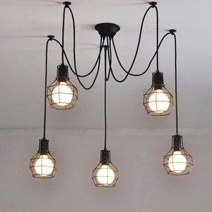 아트 데코 철 케이지 펜던트 조명 창조적 인 DIY Droplight 예술 스파이더 서스펜션 램프, E27,110V 220V ~ 240V의 champion_pros861