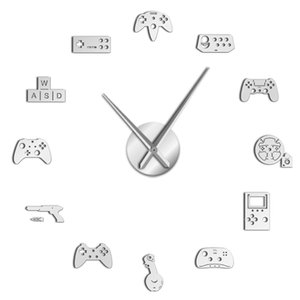 Game Controller Video Diy Giant Wall Clock Game Joysticks Stickers Gamer Wall Art Video Gaming Signs Boy Bedroom Room Decor