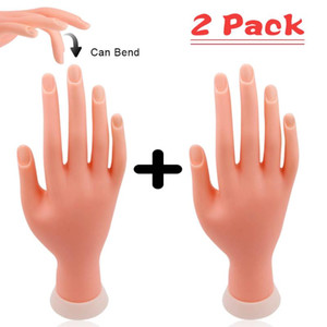 Practice Hand For Manicure Nail Hand Training Model Flexible Movable Prosthetic Soft Fake Nail Printer Manicure Nails Tool