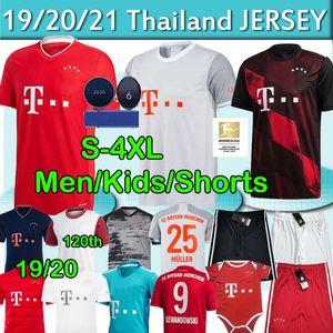Bayern Munich 20 21 maillot de foot SANÉ LEWANDOWSKI DAVIES MULLER Gnabry HERNÁNDEZ Maillot de football Hommes Enfants fans Joueur 120e MUNCHEN