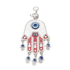 Evil eye wall hanging Turkey Evil Eye Beads With Hamsa Hand Car Keychain Blue Tassel Charm Wall Hanging Jewel