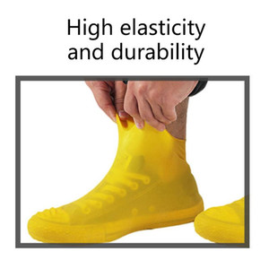 Anti-slip Latex Shoe Covers Reusable Waterproof Rain Boot Overshoes Shoes DC120