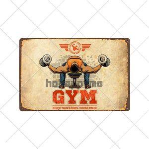 Tin Plate Poster Bar Metal Gym Sign Home Pub Decorative Retro Decor Vintage 20x30cm Exercise Plaque Sport Fitness Wall QctIQ packing2010