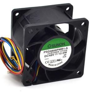 Новый 6CM 60мм 6038 48V 12W PSD4806PMB1-сервер ветрам 4-проводном вентилятора системы охлаждения 60 * 60 * 38мм