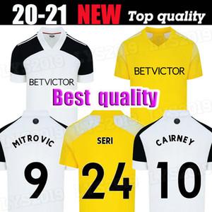 20 21 MITROVIC Cairney Soccer Jerseys League 2020 2021 Seri I.Cavaleiro Anguissa Home White Away Yellow Men Bambini Set di camicie da calcio uniformi