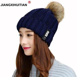 Protezioni delle lane jiangxihuitian Cappelli invernali Skullies Cappello Berretti inverno cappelli per gli uomini delle donne Balaclava Maschera Gorras Bonnet Cappello lavorato a maglia