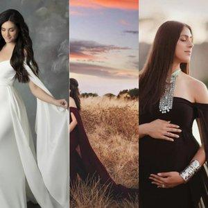 kol tulum elbise fotoğrafçılık tulum elbise 6658 artı Merserize pamuk çırpınan Kadın hamile kadınların çırpınan kuyruk merserize