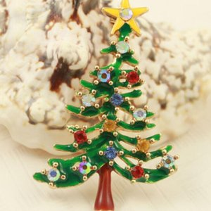 1 pcs Cute New Year Christmas Tree Xmas Gift Alloy Brooch Pin Party Decoration