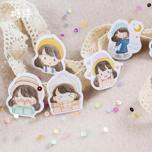 Box Stickers Set Lable Diy Album decorativa 45pcs bdebaby Diário Stationery Stickers Scrapbooking Tz246 vara Lovely Girl uaBtb