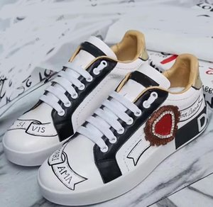 Real Leather Sneakers High Quality Trainers Designer Shoes Womens Casual Shoes running shoes huaraches size 35-40 with box D8
