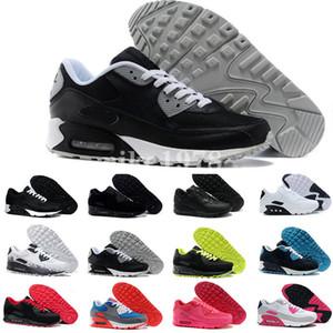 أحذية رياضية أحذية الكلاسيكية 90 للرجل والمرأة أحذية رياضية مدرب لينة وسادة السطح للتنفس أحذية يورو 36-45 المشي للرجالnike air max airmax 90