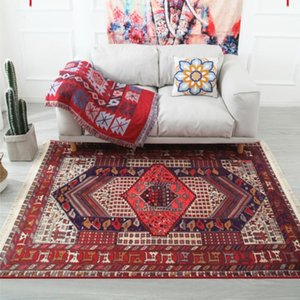 Morocco Nordic Geometric Striped Tassels Carpets for Fiving Room Area Rugs Anti-slip Bedroom Carpet Kids Room Floor Rug