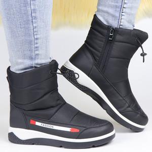 Winter Boots Women Snow Ankle Boots Waterproof Wedge Shoes Women Fur Ladies Zipper Botas Warm Botas De Mujer