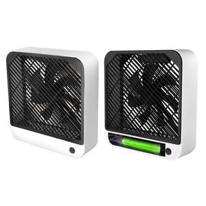 Ultra-quiet Mini Portable USB Rechargeable Desktop Fan 2 Speed Air Conditioner Y5LF
