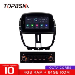TOPBSNA 1 Din Android 10 Car Radio Player For 207 2007-2014 WIFI Multimedia GPS Navigation Stereo 8 Core RDS Auto 4G+64G