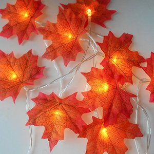 1.5M 3M 20 Lights Maple Leaves Garland Led Fairy Lights for Christmas Decoration Autumn String Light Festive DIY Halloween Decor C0927