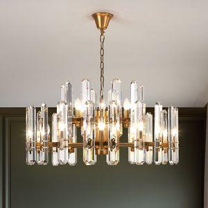 Postmodern K9 Crystal Luxury LED Chandelier Lighting Dining Living Room Lobby Large Hanging Lamp E14 Villa Bedroom Chandeliers