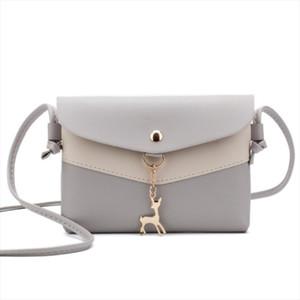 New Womens Single Bag handbag version stylish simplicity small square package Patchwork Panelled mini shoulder Messenger bag