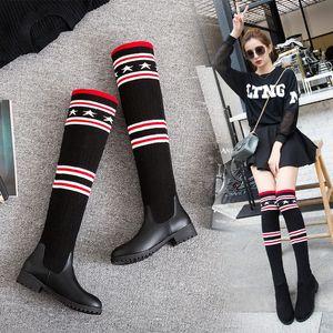 S.Romance 2018 Kadınlar Boots Artı boyutu 34 43 Düşük Kare Topuklar Diz Boots Ofisi Bayanlar Kadın Siyah SB033 APmm # Kadın Ayakkabı