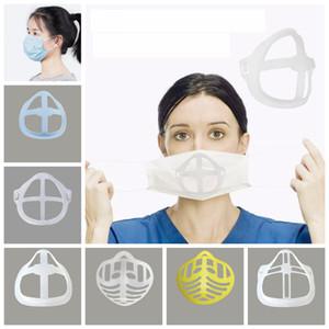 Силиконовая маска кронштейн 3D Lipstick Защитная маска Stand Внутренняя поддержка для повышения Дыхательные Плавно Маски Инструмент Аксессуар Держатель FFA4430