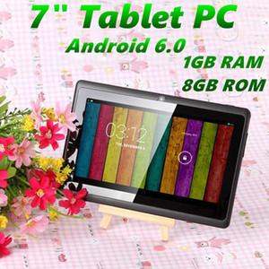 7 inch A33 Quad Core Tablet PC Q8 Allwinner Android 6.0 Capacitive 1.5GHz 1GB RAM 8GB ROM WIFI Bluetooth Dual Camera Flashlight Q88 MQ12