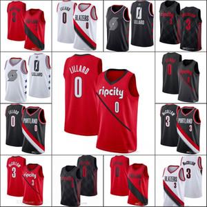 Erkekler PortlandizBlazersErkekler Damian Lillard CJ McCollumNBA Beyanı All-star Basketbol Forması