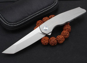 High End Flipper Folding Knife M390 Tanto Blade TC4 Titanium Alloy Handle Ball Bearing Outdoor Camping EDC Pocket Folding Knives