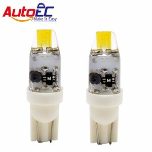 AutoEC 2x t10 cob w5w g4 12v led silicone light 194 replace Halogen wedge light Indicator lights Instrument lamp bulbs white