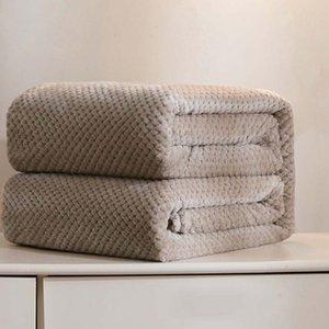 Home Warm Soft Flannel Blankets Children Baby Blanket Plaid TV Comforter Home Bedding Linen Kids School Quilt