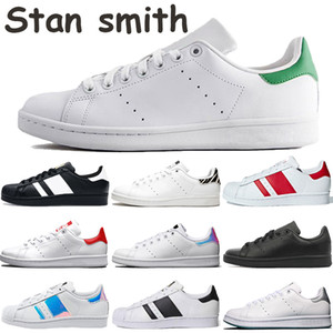 2020 New Fashion Hombres Mujeres Zapatos Casuales Stan Smith Triple Blanco Zebra Black Pink Superstars University Red Foundation Mens Zapatillas al aire libre