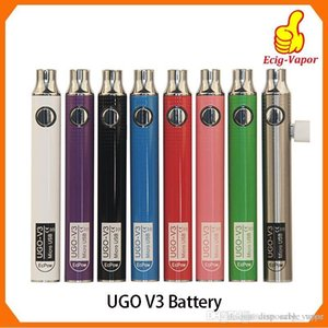 Autentico UGO V III V3 650 900mAh EVOD Ego 510 batteria 8colors batterie Vape Charge Passthrough micro USB 100% Oringinal trasporto libero