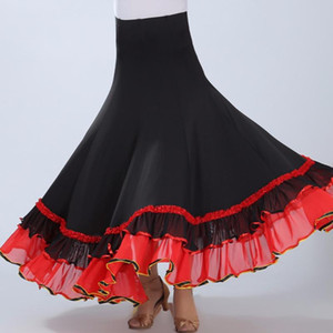 2020 Flamenco Skirt Ballroom Dance Skirt Rainbow Tutu For Adults Dresses For Ballroom Dancing Standard Disfraces De Halloween